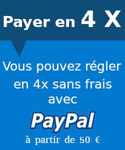Payer en 4x sans frais avec PayPal