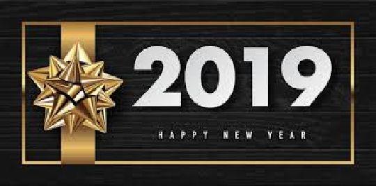 Que le jour du Nouvel an soit le début d'une  très bonne année faite de bonheur, de joie et  de tendresse...Que le bonheur, la richesse et  la santé soient au rendez-vous au sein de  votre foyer pour l'année 2019