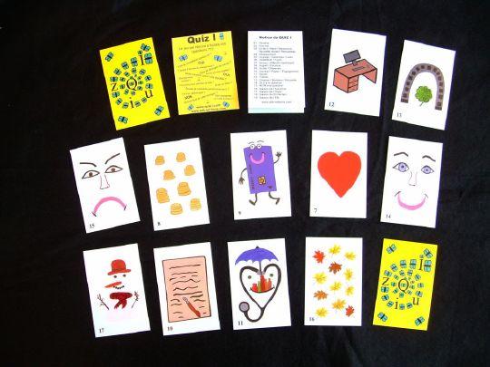 Quiz i est le jeu parfait pour répondre à  toutes vos questions en quelques minutes. 19 cartes pour répondre précisément à  toutes vos questions. Réponse précise par OUI ou par NON. Saisons pour connaitre la date des  événements