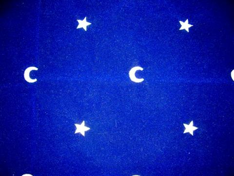 Moon and stars divination carpet, with this moon  and stars symbol will isolate the cards from  terrestrial energies for your tarots, your oracles
