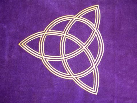 Tapis de Divination Triple Déesse , la triple déesse est une protection universelle pour vos cartes divinatoires