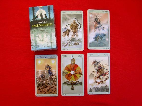 Tarot des Amérindiens, vous apporte la sagesse , la force à travers ce tarot , l'harmonie naissante de la nature